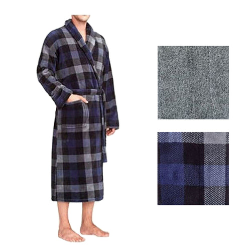 Majestic International Mens Plush Fleece Robe