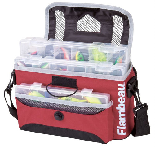 Flambeau Kwikdraw Soft Side Tackle System Satchel Bag