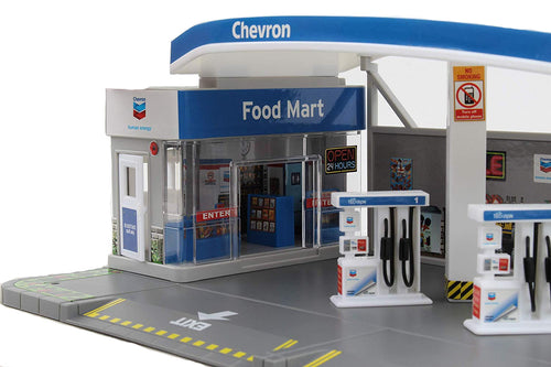 Daron Realistic Chevron Gas Station Food Mart Play Set