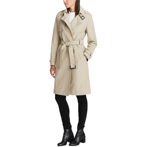 DKNY Water-Resistant Trench Coat (Stone, XX-Large)