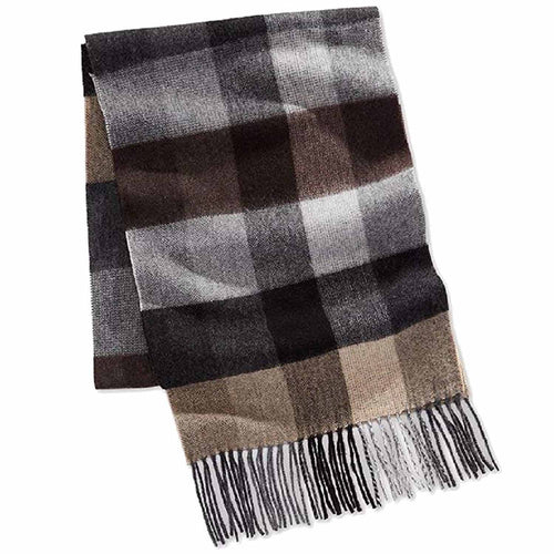Club Room Mens Plaid Cashmere Scarf