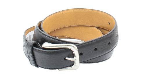 Tommy Bahama Mens Tropical Print Debossed Genuine Leather Belt