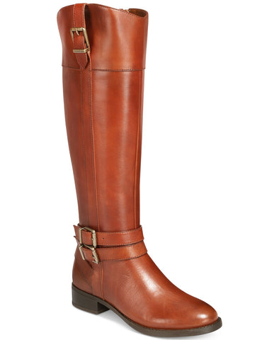 INC Womens Frankii Leather Riding Boots