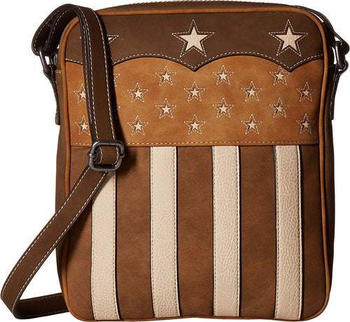 Blazin Roxx Womens Lady Liberty Conceal & Carry Crossbody Bag (Brown)