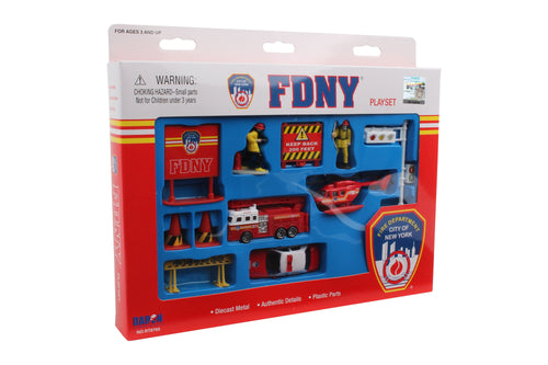 Daron FDNY Die Cast Vehicle Collectible Play Set, 12-Piece