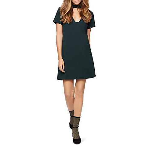 Sanctuary Womens Madeline Choker T-Shirt Dress (Meadow Green, Large)