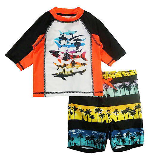 P.S. from Aeropostale Boys Swim Set with Short Sleeve Rashguard