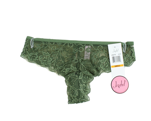 Felina Jezebel Womens 2 Pack Lace Tanga Thong, Green / Sunkiss