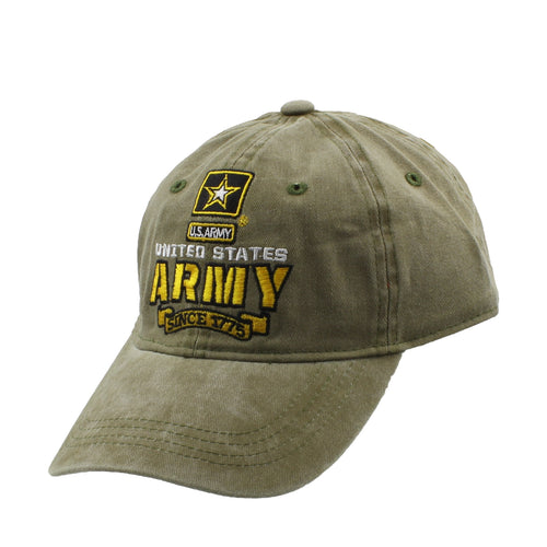 Capsmith Mens United States Army Adjustable Baseball Cap (Army Green, One Size)