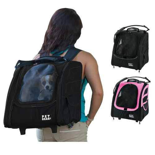 Pet Gear I-GO2 Traveler Pet Backpack and Carrier with Wheels