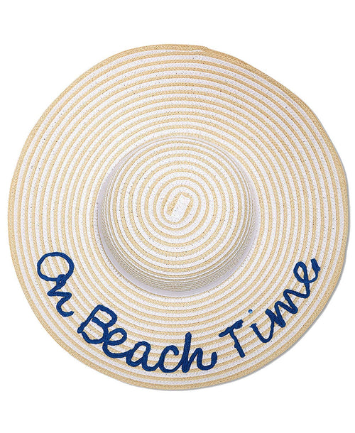 AUGUST HAT COMPANY Womens On Beach Time Floppy Hat (White Natural, One Size)