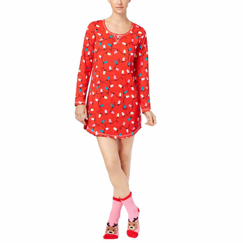 Jenni by Jennifer Moore Women's Graphic Sleepshirt and Socks Set