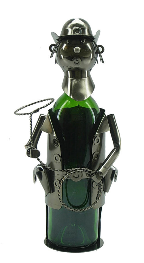 Western Themed Recycled Metal Wine Bottle Holders (Cowboy)