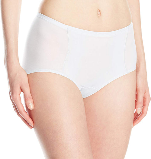 Bali Womens One Smooth U Simply Smooth Brief Panty ( White, Large /7 )