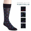 Perry Ellis Men's Ultra-Soft Microfiber Luxury Crew Dress Sock