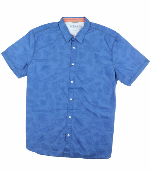 Cypress Club Men's Short Sleeve Woven Button Down Shirt