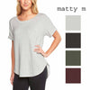 Matty M Womens Roll Cuff Top