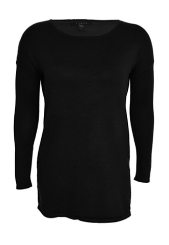 Cyrus Womens 3/4 Sleeve Scoop Neck Sweater