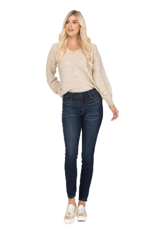 Judy Blue Womens Classic Denim Pull On Skinny Jeggings