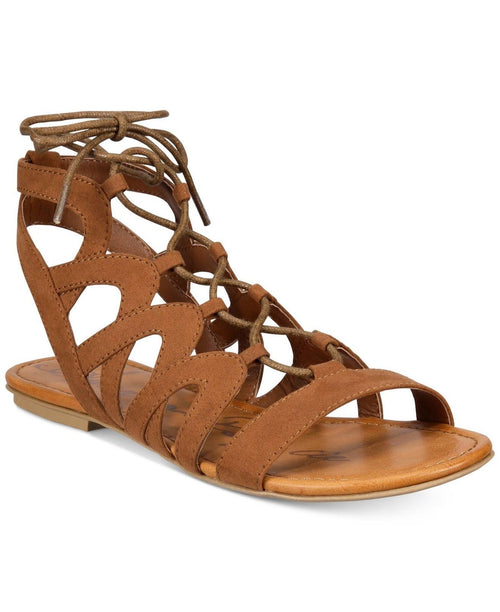 American Rag Womens Marlie Lace-Up Gladiator Sandals (Maple, 8.5M)