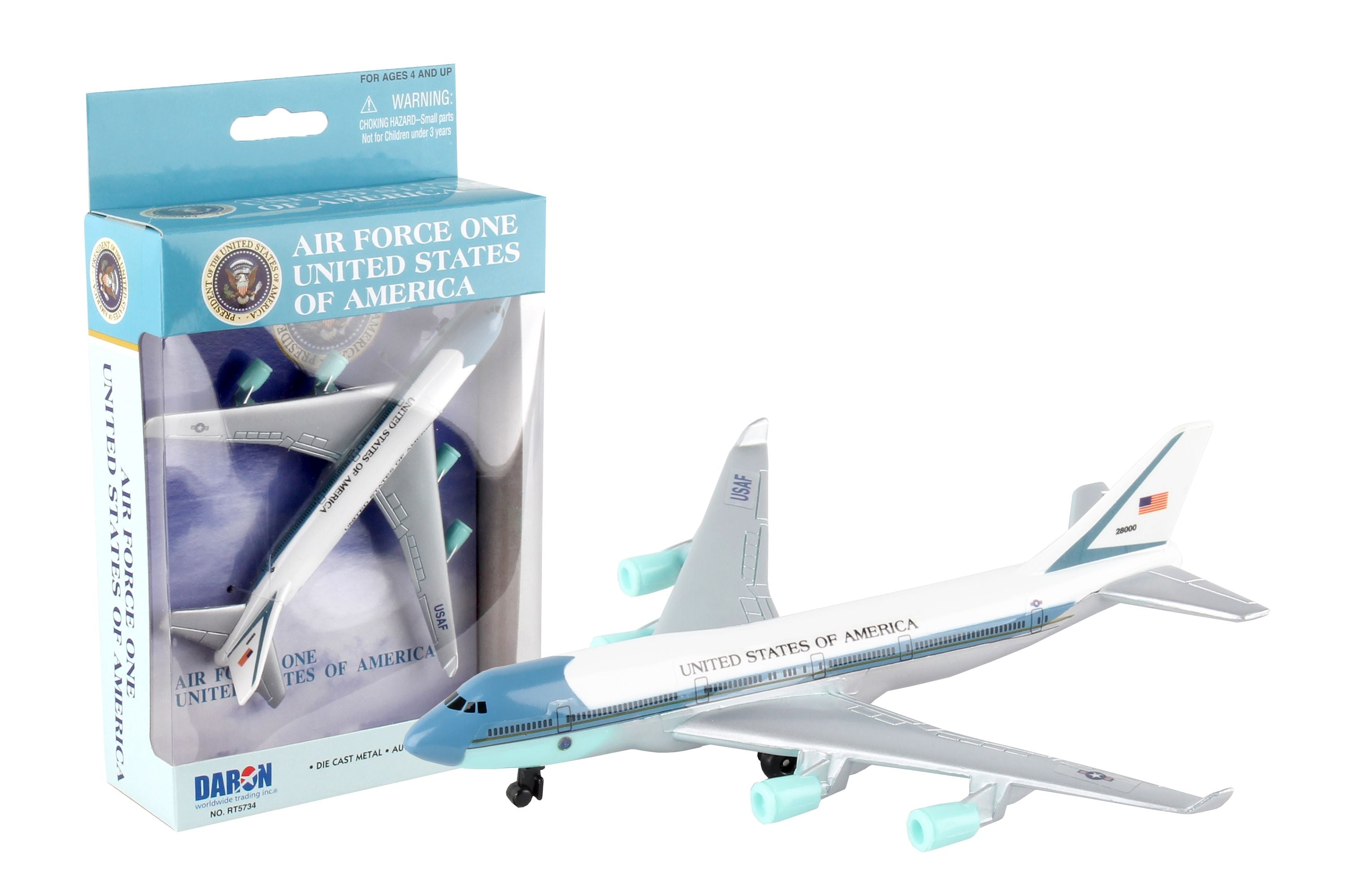 Daron Air Force One Usa Single Die Cast Collectible Plane Shop Munki