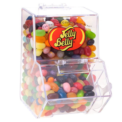 Jelly Belly Mini Bean Bin Dispenser with 3.5 oz of Assorted Jelly Beans