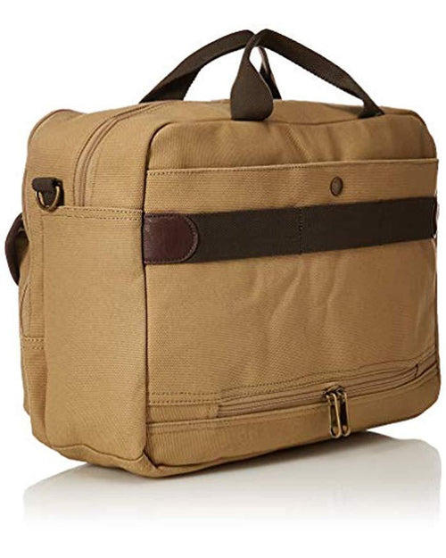 Tommy Bahama Mens Canvas Messenger Bag With Padded Laptop Pocket