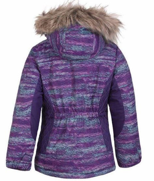 Free Country Girls Radiance Jacket with Faux Fur Hood (Custom Violet, Medium)