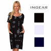 Ingear Resort Womens Short Sleeve Swimsuit Cover Up Dress Plus Size
