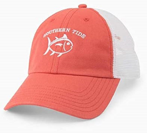 Southern Tide Womens Skipjack Twill Trucker Hat (Charleston Red, One size)