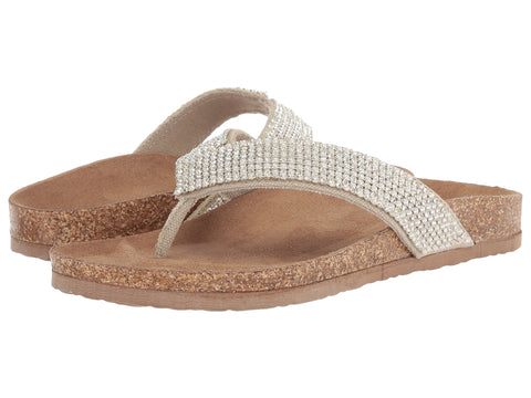 Not Rated Womens Bryce Jeweled Flip Flop Sandal