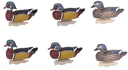 Flambeau Storm Front Wood Duck Decoys-6 Pack