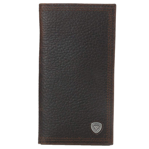 Ariat Performance Work Leather Rodeo Wallet/Checkbook Cover (Dark Rowdy Brown)
