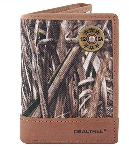 Zep-Pro Mens Realtree Nylon and Leather Tri-fold Shotgun Shell Concho Wallet