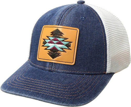 Ariat Womens Aztec Patch Mesh Back Adjustable Baseball Cap (Denim Blue,One Size)