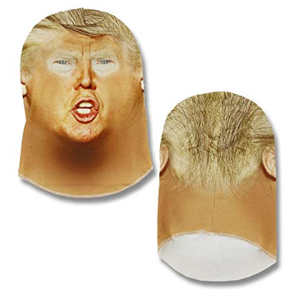 Faux Real Unisex-Adult's Full Coverage Trump Mask, White, One Size