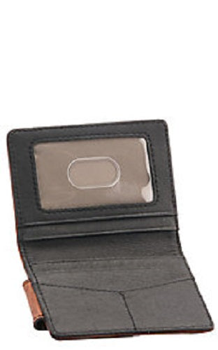 Hooey Mens Weathered Havana Roughy Logo Money Clip Bifold Wallet (Brown/Maroon)