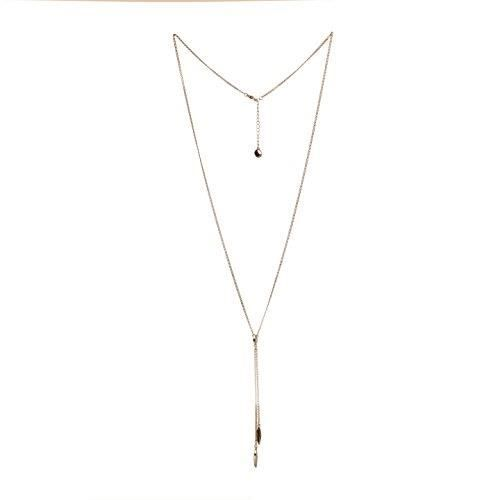 BCBG Generation Womens Spike Y-Shaped Necklace (Silver Tone)