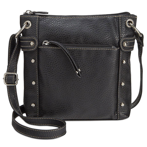 Style & Co Tate Small Faux-Leather Crossbody Bag (Black)