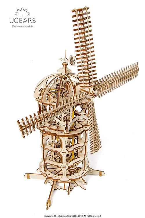 Ugears Plywood Tower Windmill Collectible Mechanical Model