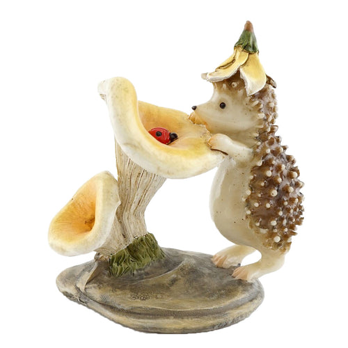 Top Collection Miniature Hedgehog Garden Statues