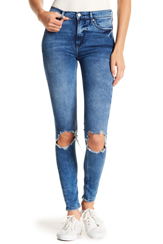 Free People Womens Busted Knee Skinny Jeans