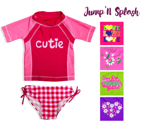 Jump N' Splash Little Girls 2-Piece Rashguard Swim Set