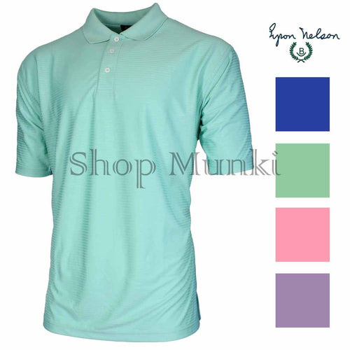 Byron Nelson Mens Golf Performance DriWay Short Sleeve Lightweight Polo Shirt