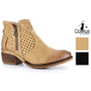 Corkys Womens Bismark Laser Cut Ankle Booties