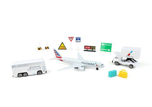 Daron Hawaiian Airlines Die Cut Metal and Plastic Airport Playset