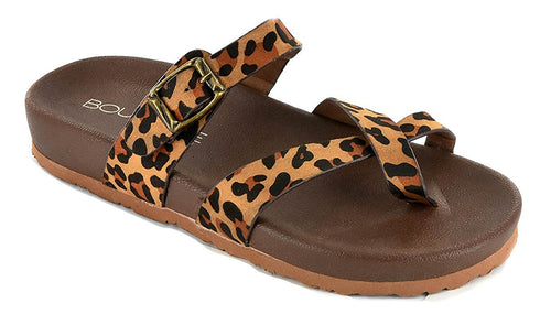 Corkys Womens Heavenly Faux Suede Buckle Sandal