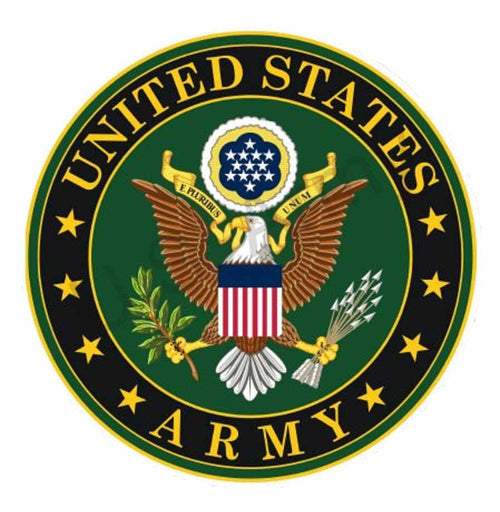 Paper House Official Licensed United States Army Emblem Tin Sign