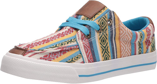 Roper Womens Angel Fire Fashion Vulcanized Serape Canvas Sneaker