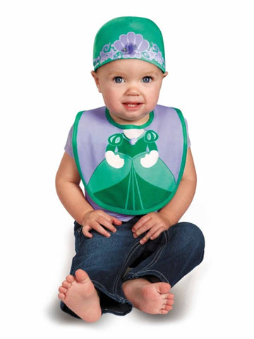 Disguise Baby Girl s Disney The Little Mermaid Ariel Bib and Hat Costume 8f80e4bd4e03